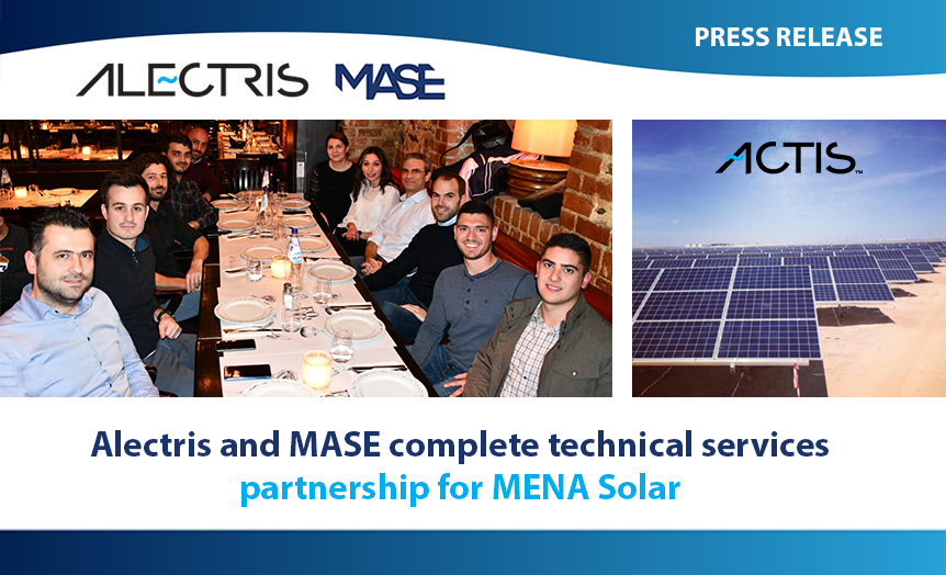 Alectris and MASE project mena solar actis erp banner