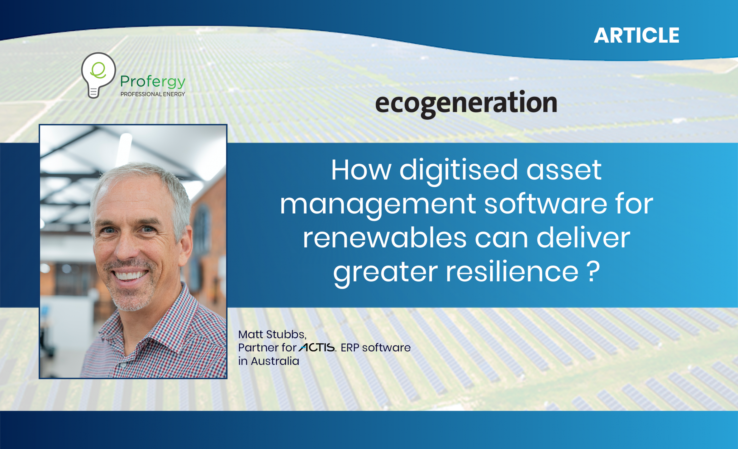 digitised asset management software for renewables